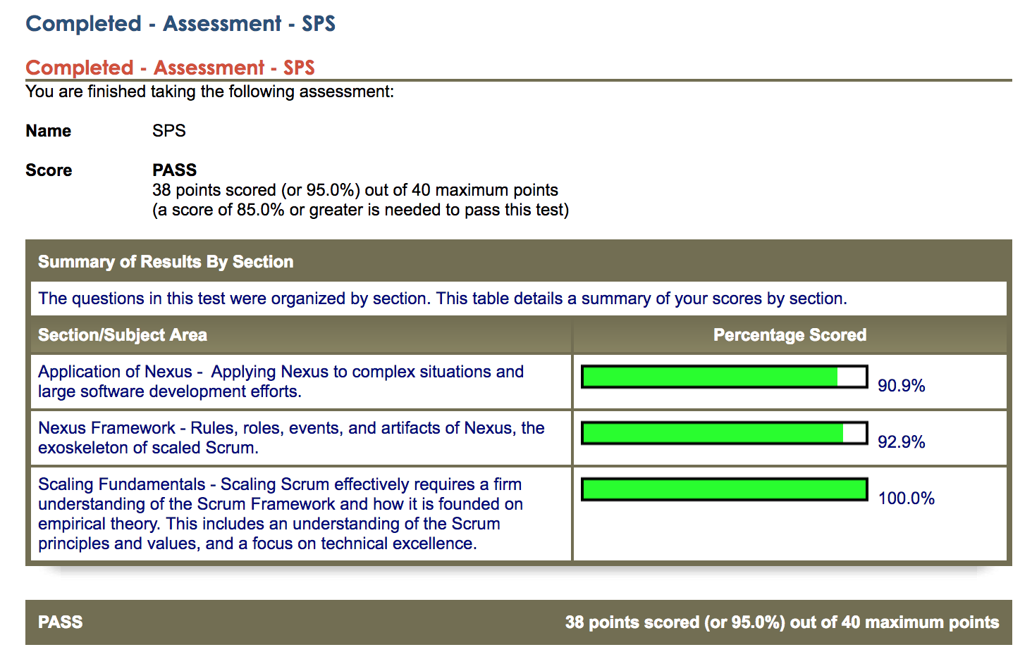 Studying for the Scaled Professional Scrum SPS Exam – Notes